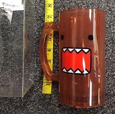 Toonlabsink NHK TYO DA Cute Domo Face Reddish Brown Stein Glass Cup New HTF