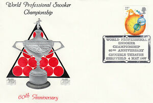 (53054) GB Cotswold Cover World Snooker Crucible Sheffield 1987