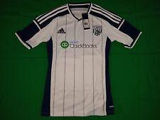 West Bromwich Albion MAGLIA HOME 2014/15 Adidas Taglia S-NUOVO -