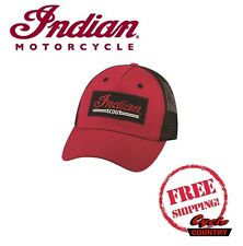 GENUINE INDIAN MOTORCYCLE RED SCOUT TRUCKER HAT SNAP BACK NEW BLACK RED