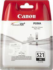 Genuine Canon CLI-521BK Black Ink Cartridge for Pixma MP540 MP550 MP560