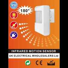 Surface Mounted  Wall PIR Infrared Motion Sensor Switch White 180° Detection.