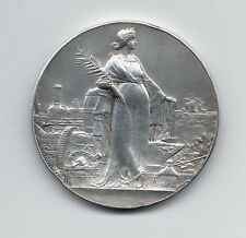 Art Nouveau France National Labor Exposition Bronze Medal 1908 by Massonnet M39