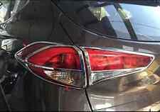 ABS Chrome Rear Tail Light Lamp Cover Trim 4pcs For Hyundai Tucson 2015-2017