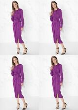 & Other Stories stunning long purple open back wrap dress size 6 $125 price NWT