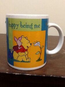 "DISNEY WINNIE THE POOH ""HAPPY BEING ME"" COFFEE CUP"