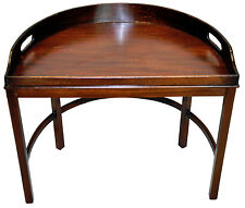 Great Dark Walnut Serving  Demi-Lune Tray Top Table
