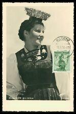 AUSTRIA MK 1950 TRACHTEN VORARLBERG COSTUMES MONTAFON MAXIMUM CARD MC CM h0744