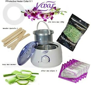 Waxing Kit for Hair Removal Wax Warmer 100g Wax Spatula Wipes Free delivery