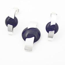 Silber 925 Schmuck - Set mit Blaufluss !!EXCLUSIV!!TOP! Anhänger, Ohrsteck NEU