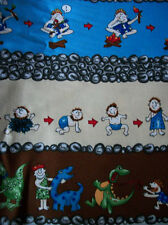 FUNNIEST CAVEMAN 100 %COTTON FABRIC ONE YARD/QUILTING FABRICS/SEWING SUPPLIES