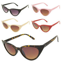 Womens Rockabilly 50s Retro Style Pointy Sharp Cat Eye Sunglasses