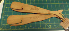 New! Alaska Salad Server Set - Whale Salad Servers - Bamboo Serving Set - Cute !