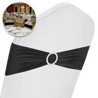 250 Polyester Chair Cover Sash Bows Made USA 100/% Heavy Woven PolyPoplin Plain
