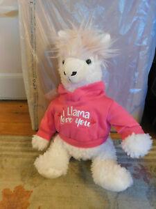 "Dan Dee I Llama Love You Plush Collectors Choice 18"" hot Pink Hoodie Embroidered"