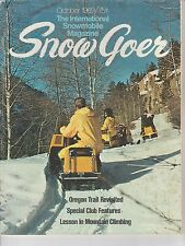 OCT 1969 SNOW GOER snowmobile magazine