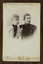 Marie et Ferdinand de Roumanie, Queen and King of Romania, Photo cabinet card