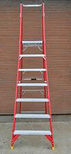 Platform Fibreglass Ladder 7 ft foot step Australia standard order cheery picker