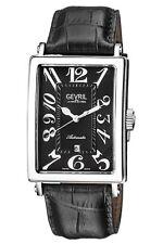 Gevril Men's 5061 Avenue of Americas Automatic Black Leather Date Wristwatch