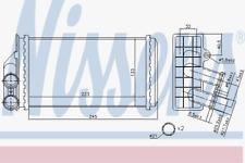 Wärmetauscher Innenraumheizung - Nissens 71157