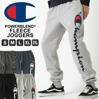 Champion Men's Powerblend Fleece Joggers Verticle Script Logo GF22H Y07234 New