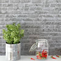 Gray Brick Peel and Stick Wallpaper Self Adhesive Contact Paper Decor Sticker 3D