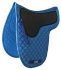 Horse Cotton Quilted Jumping ENGLISH SADDLE PAD Trail Contoured Gel Blue 72F23