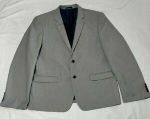 Connor Mens Grey Slim Suit Jacket Size 48 Lined *VGC*