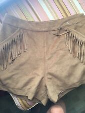 Hollister Faux Suede with Fringe Short shorts size 0