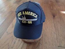 USS AMERICA CV-66 U.S NAVY SHIP HAT OFFICIAL MILITARY BALL CAP U.S.A. MADE