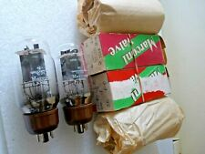 KT66 Marconi 2 Halo Getters Matched Pair D Valve Tube New Old Stock FEB20A