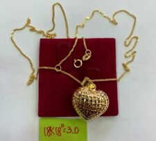 Gold Authentic 18k gold necklace and pendant
