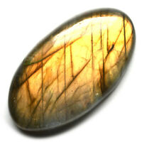 Cts 37.25 Natural Sunset Color Fire Labradorite Cab Oval Cabochon Loose Gemstone