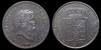 pci1129) Napoli Regno delle Due Sicilie Ferdinando II Piastra 120 gr 1857