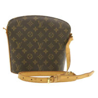LOUIS VUITTON Monogram Drouot Shoulder Bag M51290 LV Auth cr122