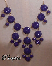 Bubble Statement Necklace PURPLE receive 3-5 days FREE Shipping USA (TCU)