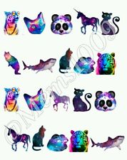 Galaxy Animal Nail Decals(water decals) Galacy Nail decals. Free US Shipping!