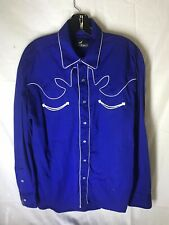 Western Express Pearl Snap Rockabilly Shirt Sixe Large
