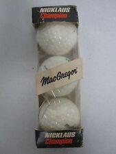 VINTAGE MACGREGOR JACK NICKLAUS SIGNATURE LIQUID CENTER #2 GOLF BALLS MIB