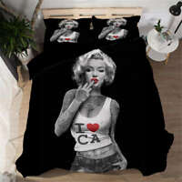 Free Casual Sexy Woman 3D Digital Print Bedding Duvet Quilt Cover Pillowcase