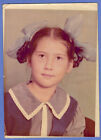Vintage Soviet photo 8-YEARS OLD GIRL with braids and big bows