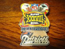 NE Patriots vs Panthers Larger Champions XXXVIII Collectors Pin