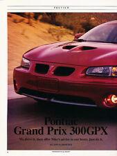 1995 Pontiac Grand Prix 300GPX - Original Car Print Article J236