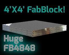 CertiFlat FB4848 4'X4' FabBlock DIY Modular Welding Table Top Kit - Heavy Duty