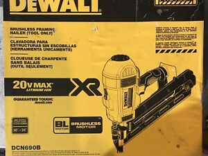 "DEWALT DCN690B 20V 2-3.5"" Cordless 30° Framing Nailer (Tool Only)"