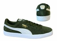 Puma Suede Classic Lo Top Green Leather Lace Up Mens Trainers 365347 33 B76A
