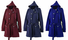 Women's No Pattern Casual Button Cotton Blend Coats & Jackets