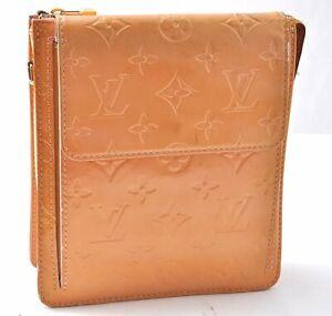 Authentic Louis Vuitton Monogram Vernis Mott Shoulder Bag Yellow LV B1264