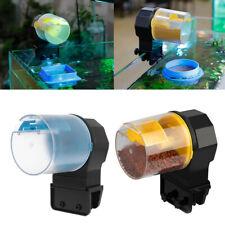 ABS Aquarium Automatic Fish Feeder Tank Timer Feeder with 2 Fish Food Dispenser