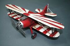 Blechmodell  Flugzeug 32 cm Doppeldecker Blechflugzeug Deko  Flugzeugmodell